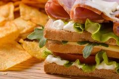 Конец-вверх снятый сандвича Стоковая Фотография RF