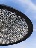 Конец-вверх современного уличного фонаря - абстрактное изображение стоковое фото