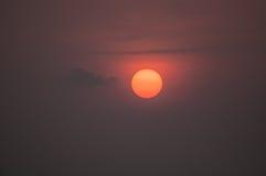 Конец-вверх Солнця на восходе солнца Стоковое Фото