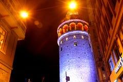 Конец-Вверх Стамбула башни Galata стоковая фотография