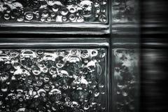 Конец-вверх стеклянных блоков Стоковая Фотография