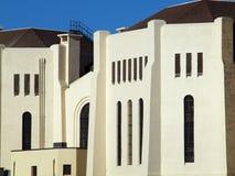 Конец-вверх стены тюрьмы внешней, окон, и крыши Стоковое Изображение RF