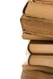 Конец-вверх стога старых книг Стоковое Изображение RF