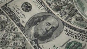 Конец-вверх счета доллара США, серии американской предпосылки денег, банк и финансы Стоковые Фотографии RF