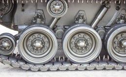Конец-вверх танка с колесом, гусеницей американский бак Стоковая Фотография RF