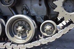 Конец-вверх танка с колесом, гусеницей американский бак Стоковые Изображения RF