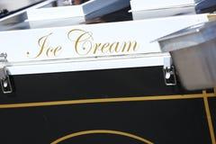 Конец-вверх текста знака мороженого стоковое фото rf