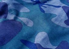 Конец-вверх ткани камуфлирования равномерный с влиянием нерезкости Стоковое Изображение