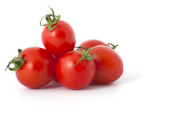 Конец-вверх томатов вишни Стоковое Изображение RF
