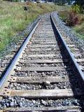 Конец-вверх трассы железнодорожных связей Стоковые Фото