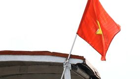 Конец-вверх флага вьетнамца видеоматериал