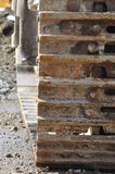 Цепь следа - деталь бульдозера Стоковое Изображение