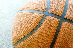 Конец-вверх части баскетбола с линиями и структурой Стоковые Изображения RF