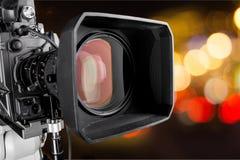 Конец-вверх черной видеокамеры Стоковое фото RF