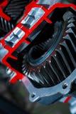 Конец-вверх шестерни, коробка передач Стоковое Фото