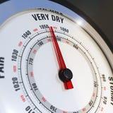 Установленная шкала очень сухой, прогноз погоды барометра бесплатная иллюстрация