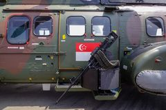 Конец-вверх штурмового вертолета стоковая фотография