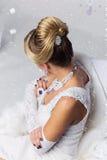 Конец-вверх bridal hairdo babette стоковое фото rf