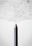 Конец-вверх Crayon с диаграммами Стоковые Фото