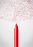 Конец-вверх Crayon с диаграммами Стоковое Изображение
