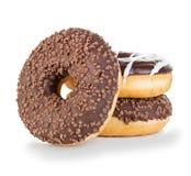 Конец-вверх Donuts изолированный на белизне Стоковое фото RF