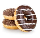 Конец-вверх Donuts изолированный на белизне Стоковое Изображение