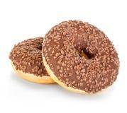 Конец-вверх Donuts изолированный на белизне Стоковые Изображения RF
