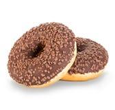 Конец-вверх Donuts изолированный на белизне Стоковая Фотография RF