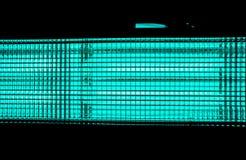 конец-вверх illuminant кино против черной предпосылки стоковое фото