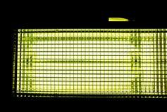 конец-вверх illuminant кино против черной предпосылки стоковое изображение rf