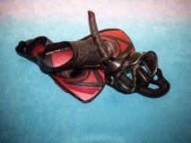 Конец-вверх snorkeling оборудования стоковое фото rf