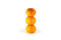Конец-вверх Tangerines на белой предпосылке Стоковые Фотографии RF