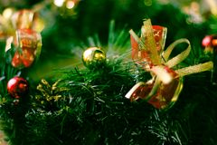Конец венка рождества вверх по фотографии стоковая фотография