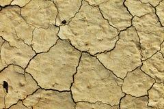 Конец грязи текстуры сухой вверх Стоковая Фотография