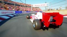 Конец детали автомобиля Формулы 1 вверх иллюстрация вектора