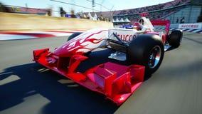 Конец детали автомобиля Формулы 1 вверх иллюстрация штока