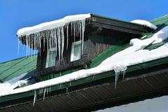 Конец детали здания вверх в зиме Стоковые Фотографии RF