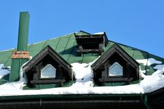 Конец детали здания вверх в зиме Стоковое Изображение RF