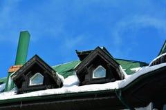 Конец детали здания вверх в зиме Стоковое Фото