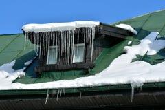 Конец детали здания вверх в зиме Стоковое фото RF