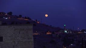 Конец дня в старом городе Иерусалима сток-видео