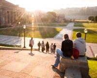 Конец дня на кампусе UCLA стоковые изображения rf