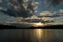 Конец дня на озере Pierce Стоковые Фотографии RF