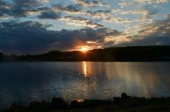 Конец дня на озере Pierce Стоковая Фотография RF