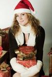 Конец женщины Santas вверх Стоковые Фото