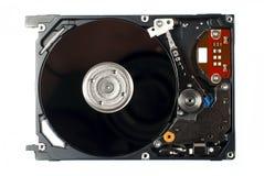 Конец жёсткого диска компьютера вверх по фото Стоковое Изображение