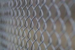 Конец загородки звена цепи вверх Стоковая Фотография RF