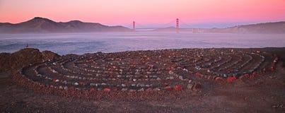 Конец земель в Сан-Франциско Калифорнии стоковая фотография