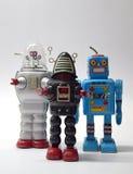 Конец игрушки робота винтажный вверх Стоковое Изображение