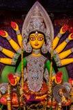 Конец идола Durga вверх Стоковые Фото